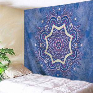 Wall Hanging Blanket Indian Mandala Tapestry - Blue - W71 Inch * L91 Inch
