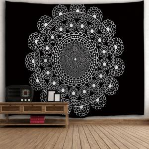 Black White W71 Inch * L91 Inch Wall Decor Polyester Fabric ...