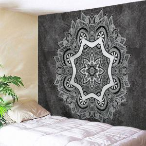 Wall Hanging Indian Mandala Printed Tapestry - Deep Gray - W71 Inch * L91 Inch