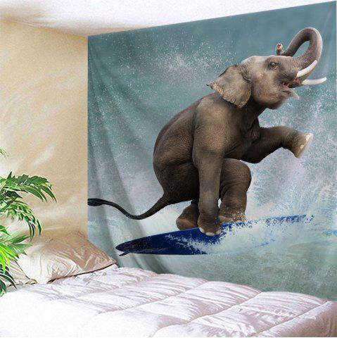 Trendy Surfing Elephant Wall Tapestry For Home Decoration