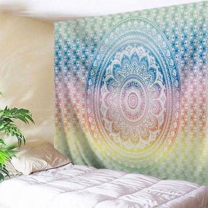 Mandala Print Hanging Tapestry Wall Decoration - Colormix - W71 Inch * L91 Inch