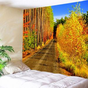 Forest Path Print Tapestry Wall Hanging Art Decoration - Citrus - W79 Inch * L59 Inch