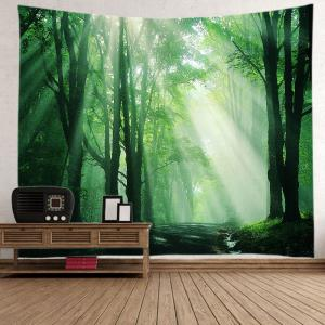 Sunlight Forest Path Print Tapestry Wall Hanging Art Decoration -