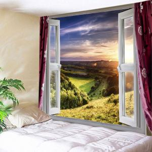 Window Nature View Print Tapestry Wall Hanging Art Decoration