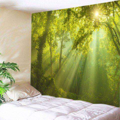 Sunlight Forest Print Tapestry Wall Hanging Decoration Vert