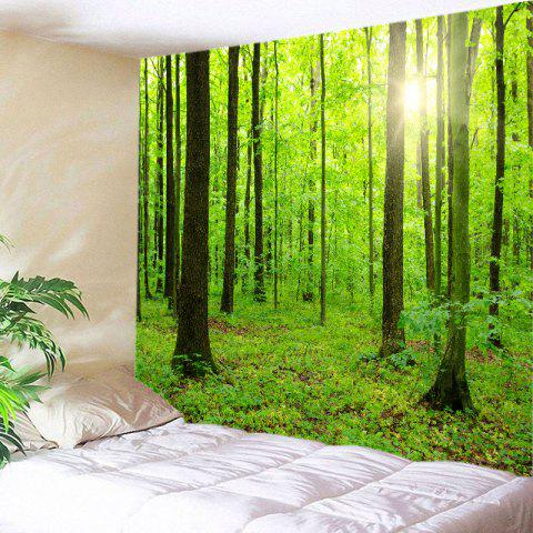 Buy Sun Forest Print Tapestry Wall Hanging Decoration GREEN W79 INCH * L71 INCH