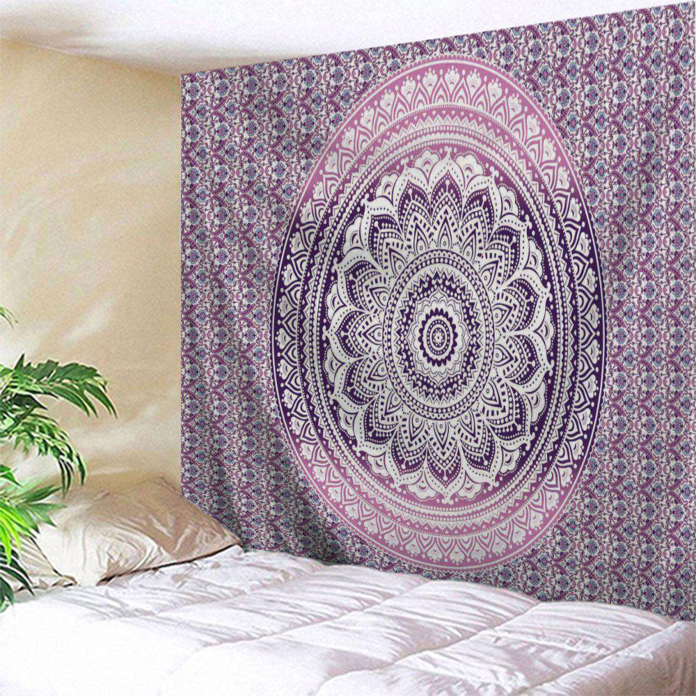 Home Decoration Wall Hanging Mandala TapestryHOME<br><br>Size: W51 INCH * L59 INCH; Color: PURPLE; Style: Mandala; Material: Polyester; Feature: Removable,Washable; Shape/Pattern: Floral,Print; Weight: 0.1800kg; Package Contents: 1 x Tapestry;