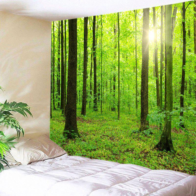 Hot Sun Forest Print Tapestry Wall Hanging Decoration