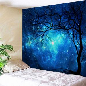 Galaxy Tree Print Tapestry Wall Hanging Art Decoration