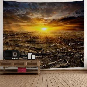 Sunrise Deadwood Print Tapestry Wall Hanging Décoration d'art -