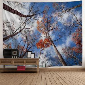 Sky Forest Print Tapestry Wall Hanging Art Décoration - Multicolore W59 pouces*L79 pouces