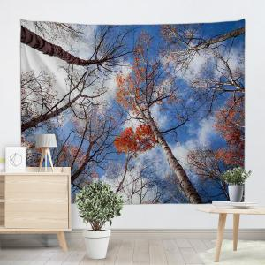 Sky Forest Print Tapestry Wall Hanging Art Décoration -