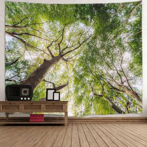 Forest Leafy Trees Print Tapestry Wall Hanging Art Décoration -