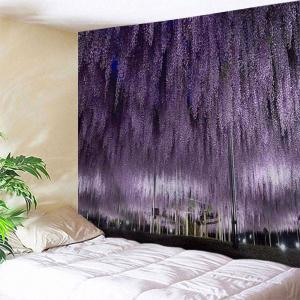 Romantic Wistaria Flower Print Wall Art Tapestry