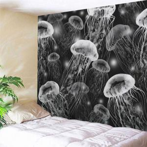 Wall Hanging Jellyfish Print Decorative Tapestry