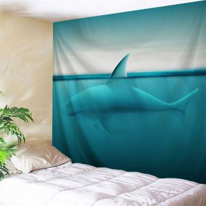 Sea Shark Throw Wall Tapestry For Bedroom - Lake Blue - W51 Inch * L59 Inch
