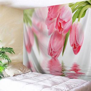 Water Tulip Wall Hanging Throw Tapestry - Pink - W59 Inch * L59 Inch