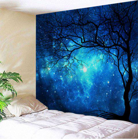 Galaxy Tree Print Tapestry Wall Hanging Art Decoration - Blue - W71 Inch * L91 Inch