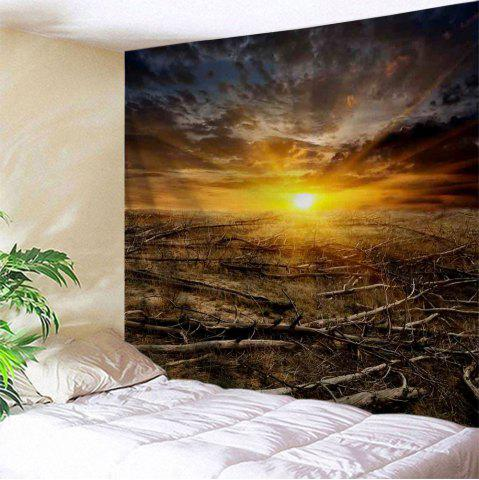 Sunrise Deadwood Print Tapestry Wall Hanging Décoration d'art