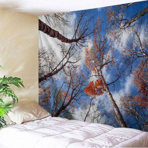 Sky Forest Print Tapestry Wall Hanging Art Décoration Multicolore Largeur 71 pouces * Longeur 91 pouces