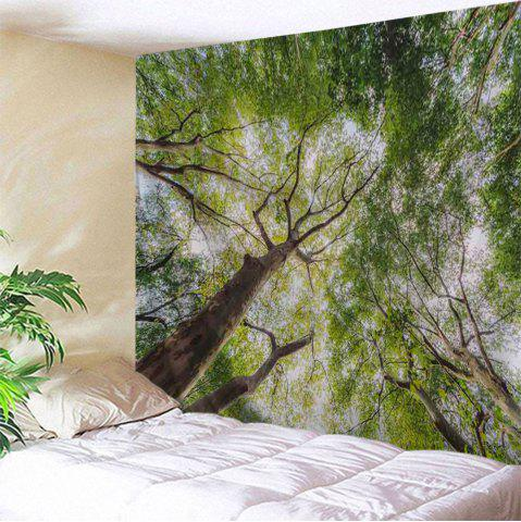 Forest Leafy Trees Print Tapestry Wall Hanging Art Décoration