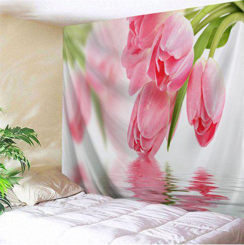 Water Tulip Wall Hanging Throw Tapestry - Pink - W71 Inch * L91 Inch
