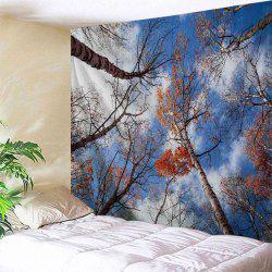 Sky Forest Print Tapestry Wall Hanging Art Décoration - Multicolore Largeur 71 pouces * Longeur 91 pouces