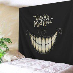Wall Blanket Halloween Funny Smile Printed Tapestry