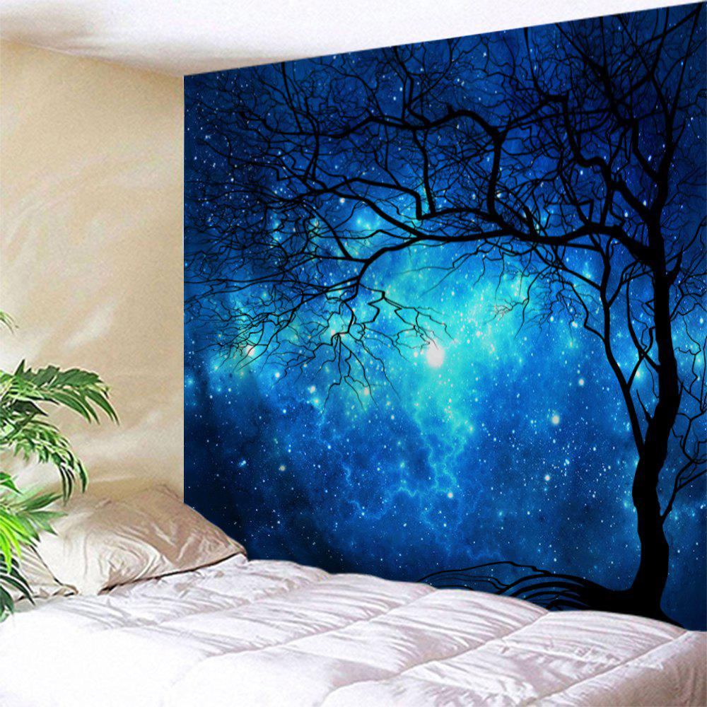 81% OFF Galaxy Tree Print Tapestry Wall Hanging Art ...