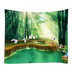 Forest Falls Print Tapestry Wall Hanging Art Decoration -