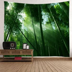 Sunlight Bamboo Forest Print Tapestry Wall Hanging Art Decoration -