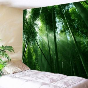 Sunlight Bamboo Forest Print Tapestry Wall Hanging Art Decoration