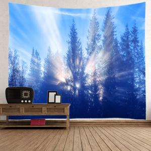 Sunlight Trees Print Tapestry Wall Hanging Decoration -