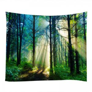 Forest Sunlight Pattern Tapestry Wall Hanging Art Decoration -