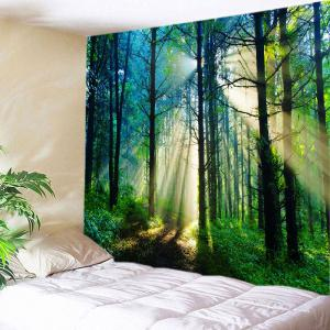 Forest Sunlight Pattern Tapestry Wall Hanging Art Decoration