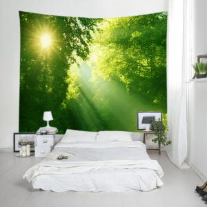 Sunlight Dense Forest Print Tapestry Wall Hanging Art Decoration -