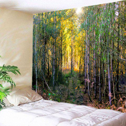 Buy Forest Path Print Tapestry Wall Hanging Decoration GREEN W91 INCH * L71 INCH