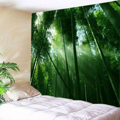 Affordable Sunlight Bamboo Forest Print Tapestry Wall Hanging Art Decoration