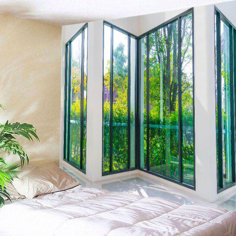 Hot French Window View Print Tapestry Wall Hanging Art Decoration GREEN W59 INCH * L51 INCH