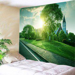 Lawn House Print Tapestry Wall Hanging Art Decoration