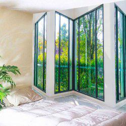French Window View Print Tapestry Wall Hanging Art Decoration - GREEN W59 INCH * L51 INCH