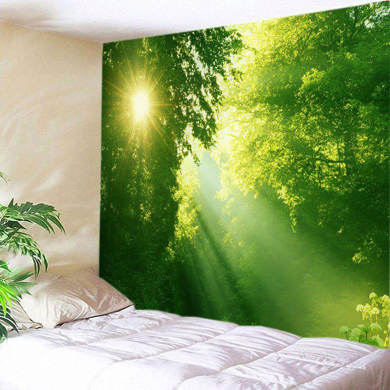 Affordable Sunlight Dense Forest Print Tapestry Wall Hanging Art Decoration