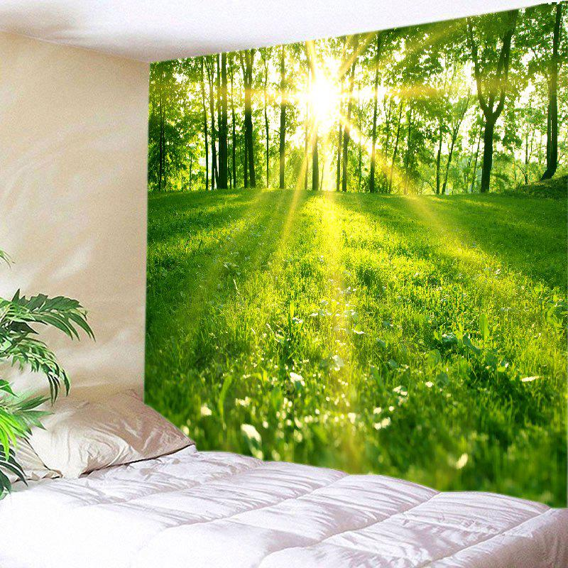Shops Sunlight Forest Lawn Print Tapestry Wall Hanging Art Decoration