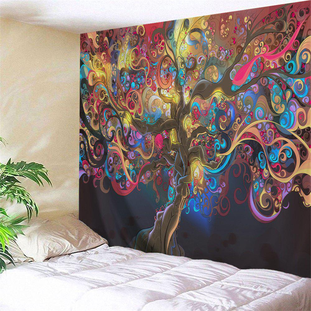 Tree Of Life Print Tapestry Wall Hanging Art DecorationHOME<br><br>Size: W71 INCH * L91 INCH; Color: COLORMIX; Style: Natural; Material: Polyester; Feature: Washable; Shape/Pattern: Plant; Weight: 0.4000kg; Package Contents: 1 x Tapestry;
