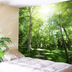 Sunshine Forest Pathway Print Tapestry Wall Hanging Art Decoration