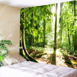 Forest Sunshine Print Tapestry Wall Hanging Decoration