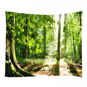 Forest Sunshine Print Tapestry Wall Hanging Decoration -
