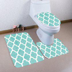 Cloud Pattern Nonslip 3Pcs Bathroom Mats Set