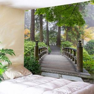 Forest Wood Bridge Print Tapestry Wall Hanging Art Decoration
