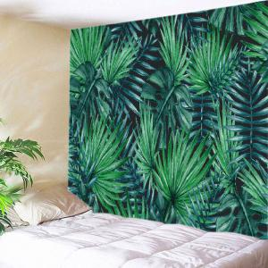 Tropical Leaves Print Tapestry Wall Hanging Art Decoration